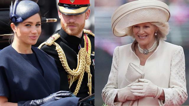 Meghan Markle e Harry não parabenizaram Camilla publicamente. Porquê?
