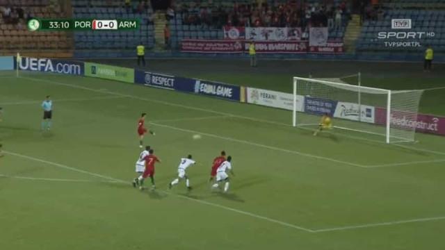 Sub-19: Foi assim que Portugal se adiantou no marcador diante da Arménia