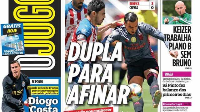 Cá dentro: Poder de fogo do Benfica e uma dupla por afinar