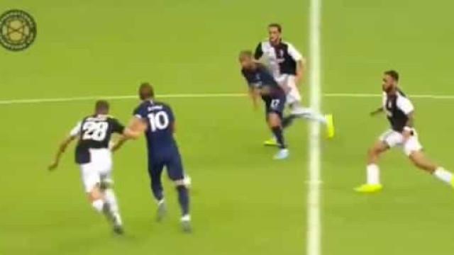 Pare o que está a fazer: Kane marca a quase 50 metros da baliza da Juve