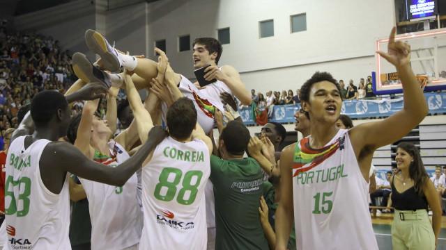 Portugal é campeão da Europa de sub-20 em basquetebol (Divisão B)