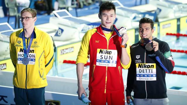 Polémica no Mundial: Nadador australiano recusou subir ao pódio com rival