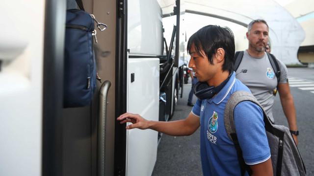 Nakajima ausente do treino do FC Porto