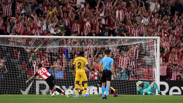 Barça arranca La Liga sem Messi e com derrota surpreendente em Bilbau
