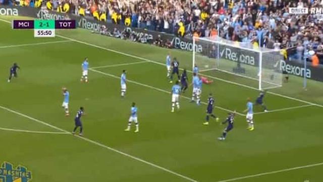 Lucas só precisou de 19 segundos para marcar e empatar o City-Tottenham