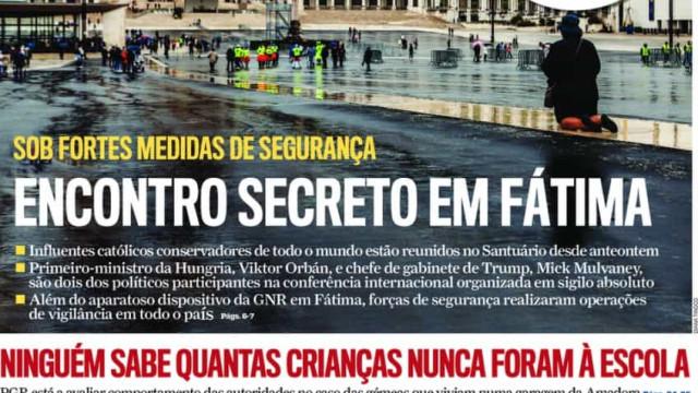 Hoje é notícia: PSP trabalha com balas inúteis; Reunião secreta em Fátima