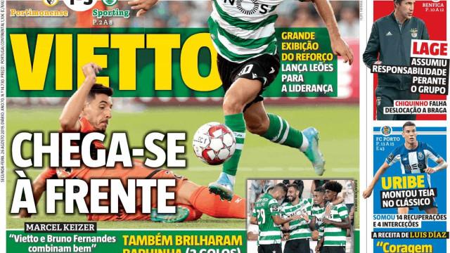 Cá dentro: Vietto chega-se à frente e a Liga tem novos líderes