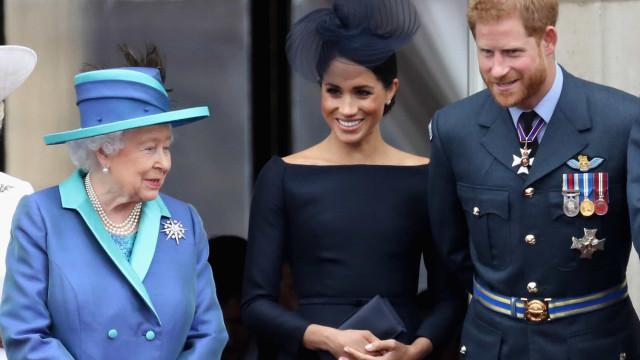 A reação de Harry e Meghan Markle ao discurso da rainha sobre a pandemia