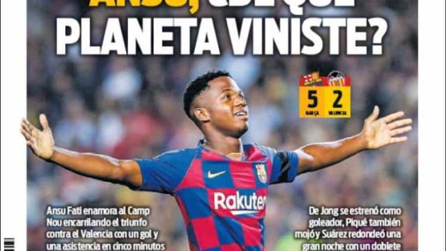 Lá fora: Jovem do Barça 'rouba' atenções e queda do City em destaque