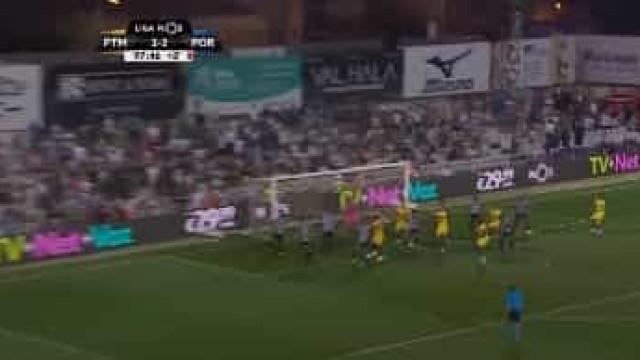 Eis a cabeçada fulminante de marcado que resolveu a partida no Algarve