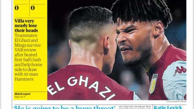 Lá fora: O regresso da Champions e dupla do Aston Villa de cabeça perdida