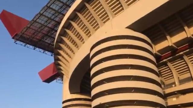 Arrepiante: Hino da Champions fez-se ouvir em Milão e aconteceu isto