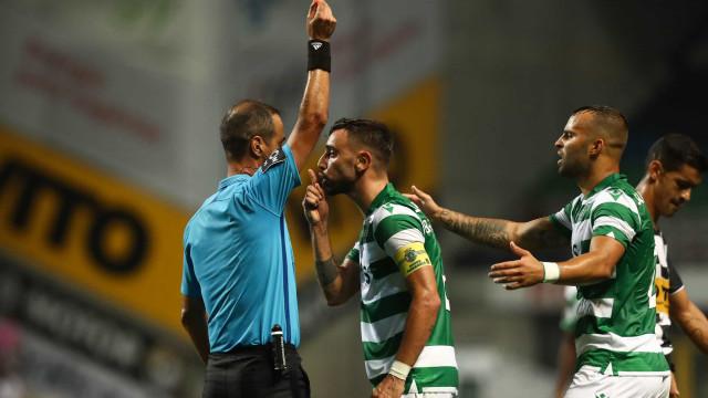Sindicato de Jogadores reagiu à expulsão de Bruno Fernandes no Bessa
