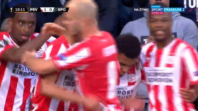 Malen foi mortífero e colocou o Sporting a perder em Eindhoven