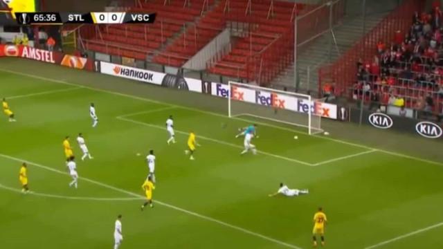 Auto-golo 'tramou' o Vitória SC na Bélgica