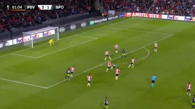 Pedro Mendes precisou de 73 segundos para marcar na Liga Europa
