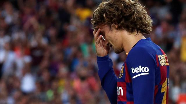 Griezmann: Mapa de calor no Barça e na seleção deixam à vista 'problema'