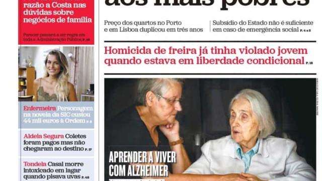 Hoje é notícia: Homicida de freira violou jovem; Armas ilegais com perdão