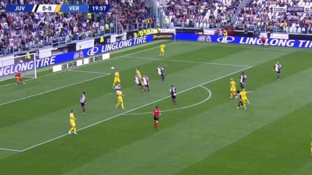 Miguel Veloso abriu o marcador do Juventus-Hellas com este golaço