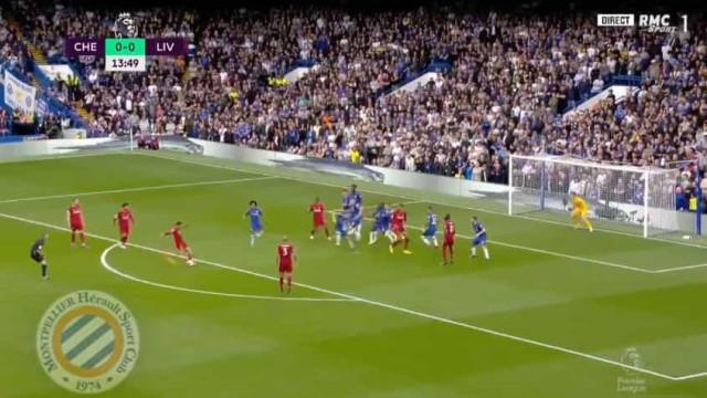 'Tiro' de Alexander-Arnold inaugurou marcador do Chelsea-Liverpool