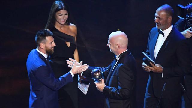 Prémios The Best: Messi eleito pela 6.ª vez o melhor jogador do ano