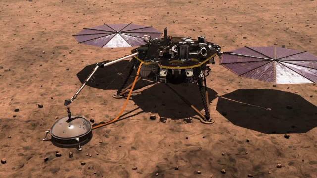 Perfuradora para medir o interior do solo em Marte deixou de funcionar