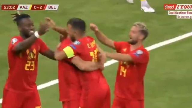 Passe de Hazard para o segundo golo da Bélgica é algo de 'incroyable'