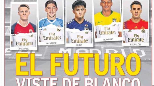 Lá fora: Os rostos do futuro merengue e o 'SOS' de Sarri na Juventus