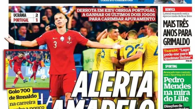 Por cá: Alerta amarelo em Kiev e Portugal fora do pote 1