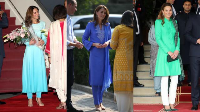 Os looks que estão a marcar a viagem de Kate Middleton ao Paquistão