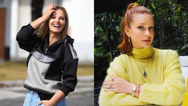 Cristina Ferreira e Marina Ruy Barbosa usam o mesmo vestido