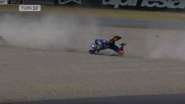 Queda arrepiante no GP Japão: Miguel Oliveira cai a 170km/hora