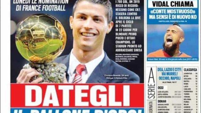 Lá fora: Por Itália já querem dar a Bola de Ouro a... Ronaldo