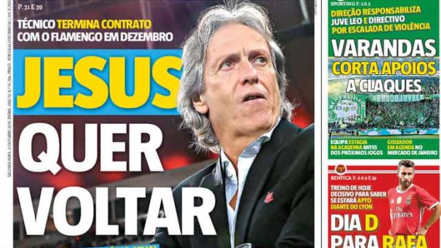 """Por cá: """"Jesus quer voltar"""" e há """"guerra"""" em Alvalade"""