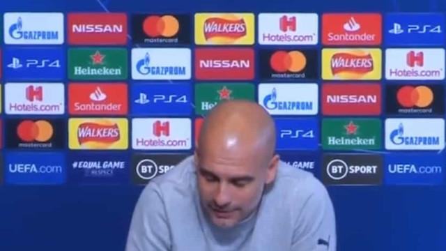 Jornalista cansa-se do discurso de Guardiola e 'aquece' conferência