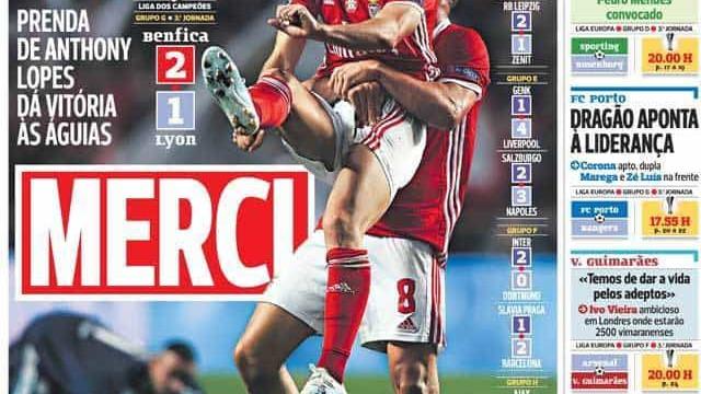 Por cá: 'Merci' Benfica, tensão em Alvalade e muita, muita Liga Europa