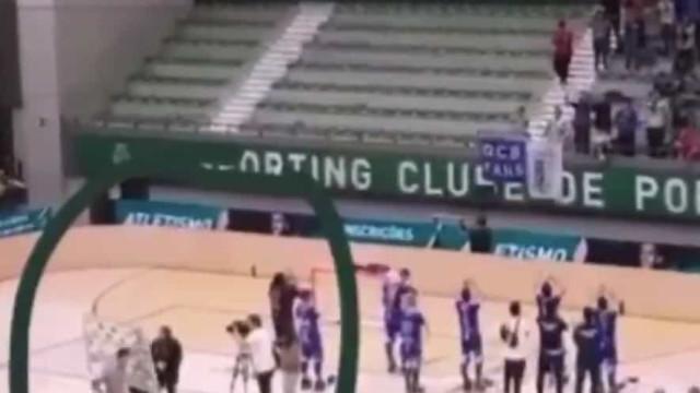 Sporting: Ângelo Girão deitou ao chão painel da 'flash interview'