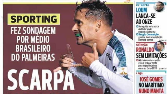 Por cá: Leões e águias em busca de reforços com FC Porto a olhar para bês