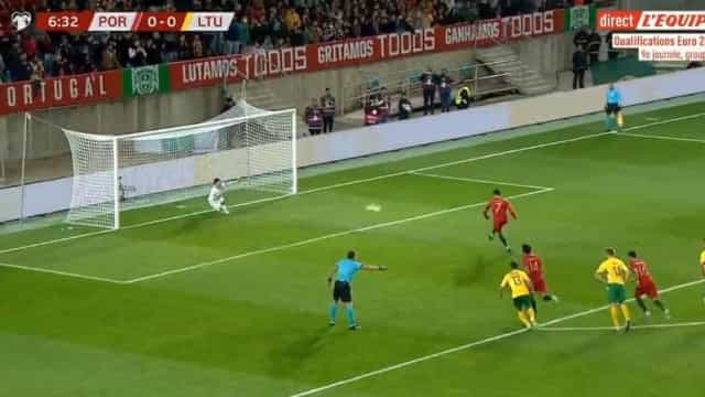 Ronaldo precisou de sete minutos para inaugurar o marcador no Algarve