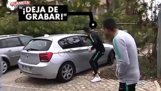 Ronaldo tentou 'roubar' telemóvel a casal que gravava passeio da Seleção
