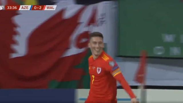 Wilson marcou um golo que o destino cruelmente roubou a Daniel James