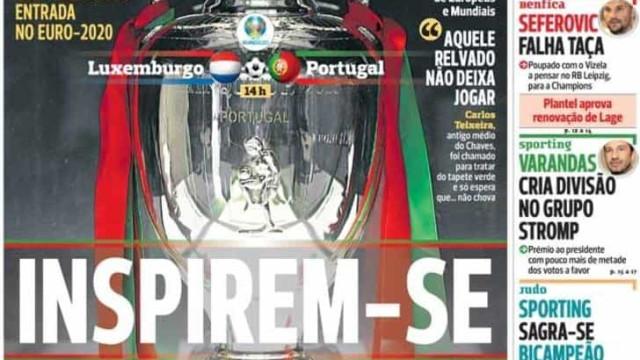 "Por cá: É dia de ""carimbar"" o passaporte para o Euro'2020"