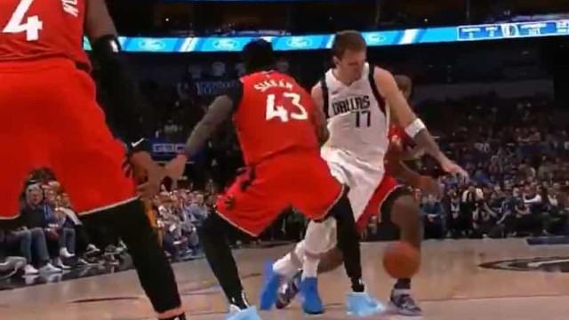 Doncic fez esta finta e não se fala noutra coisa na NBA