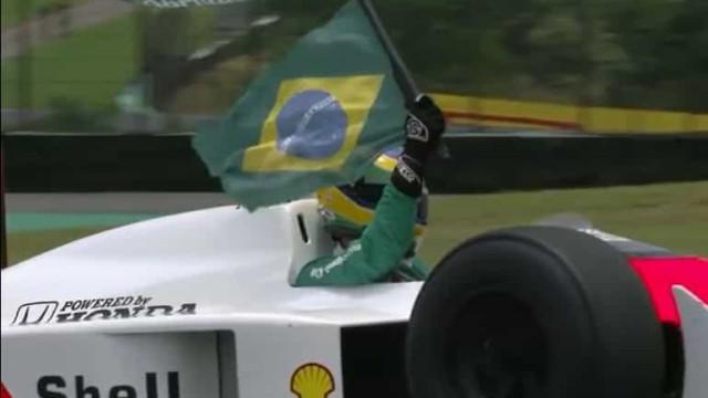 Sobrinho de Ayrton Senna conduziu carro do tio e deixou Brasil em delírio