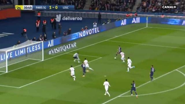 Foi assim que Di María selou o triunfo do PSG diante do Lille