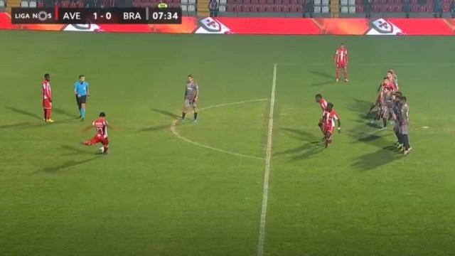 O golaço de Mohammadi que deu a vitória do Aves sobre o Sp. Braga