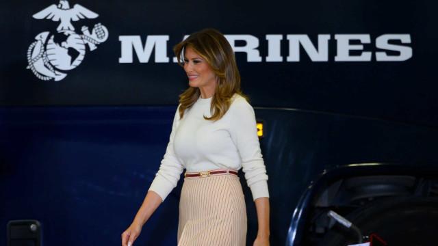 Mesmo discreta, Melania Trump não dispensou o luxo em ação solidária