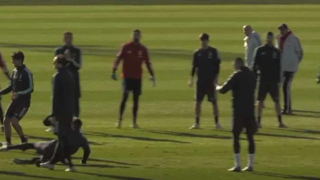 Ronaldo escorregou no treino, mas pôs toda a gente a falar deste corte