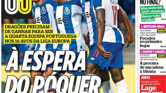 Por cá: O vermelhão, o póquer luso e o desejo de ex-Benfica em regressar