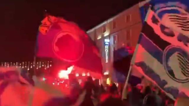 Loucura em Bérgamo: Assim se festejou o apuramento histórico da Atalanta
